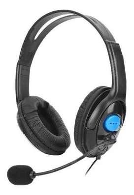 Auricular gamer p/ PS4 mic y audio