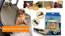 Funda Cobertor Para Auto Pet Zoom Loungee Perros Gatos Gruponatic Surquillo