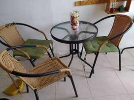 Mesas y sillas para jardines, Terrazas o exteriores