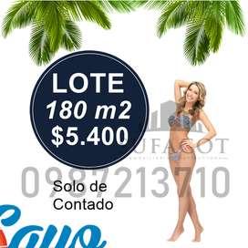 LOTES PLAYEROS, 180M2 5.400 USD, PLAYA DE PUERTO CAYO, SOLO DE CONTADO, MANABI SD1