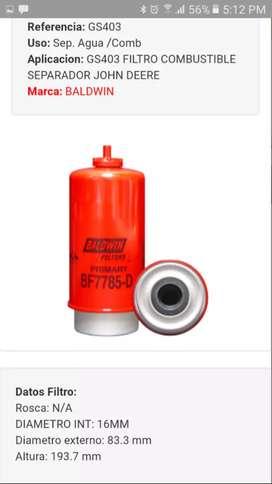 Se vende combo de filtros para combustible de maquinaria pesada