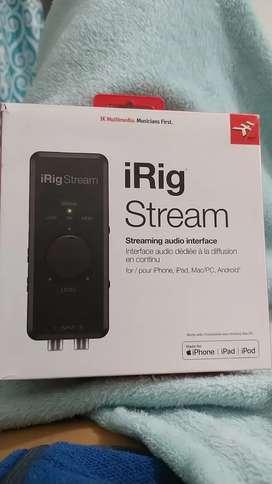 Irig Stream Nuevo para tus trasmisiones en vivo