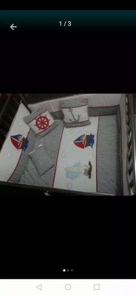Lencerias para cama cuna de 1x190