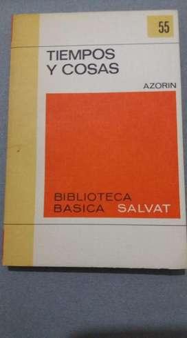 TIEMPO Y COSAS AZORIN BIBLIOTECA SALVAT