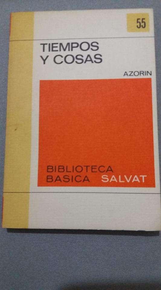TIEMPO Y COSAS AZORIN BIBLIOTECA SALVAT 0