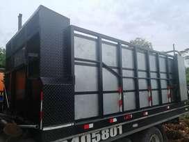 Cajón metalico para camión npr