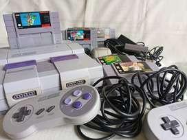 Super Nintendo Clásico Original Colección 1991 + Kit Mario Paint + 8 Juegos