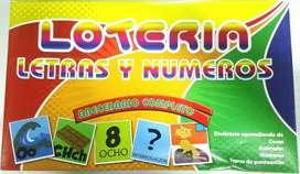Juegos de Lotería de todo tipo Lotería Matemática Lotería Letras y números Lotería imágenes y Lotería para bebés