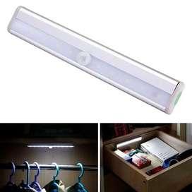 Lámpara Luz Led Gabinete Closet Sensor Detector Movimiento