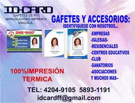 Gafetes pvc Termicos
