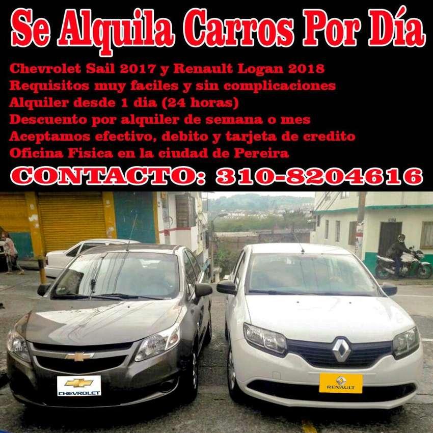 ALQUILO CARROS CHEVROLET SAIL Y RENAULT LOGAN 0