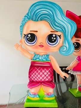 Muñecas LOL en icopor