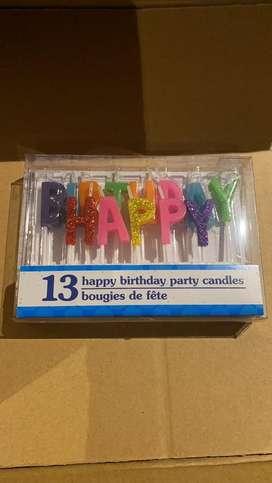 Velas de cumpleanos caja 13 letras