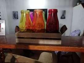 Vendo vasos de.colores