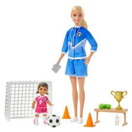 Muñeca Barbie Entrenamiento De Futbol