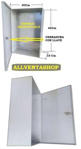 Gabinete IP40 metalico ideal dvr o tablero