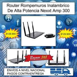 Router Rompemuros Inalambrico De Alta Potencia Nexxt Amp 300