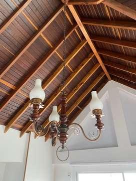 Lampara de techo colgante antigua vintage