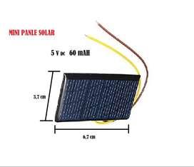 Mini Panel Solar 5 Voltios 60 Miliamperios Para Proyectos