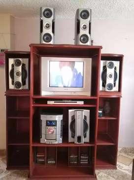 VENTA EQUIPO, TV, DVD MARCA SONY -Y MUEBLE