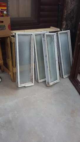 Vendo 4 ventiluz de aluminio con vidrio fijo
