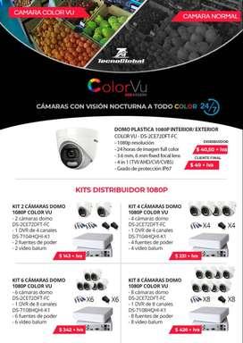 Camaras de seguridad Hikvision color vu vision nocturna en la noche camaras vigilancia Quito cable utp redes