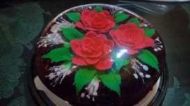 Tortas en gelatina con flores