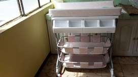 Bañera y cambiador para bebé