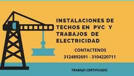 Instalador te techos en pvc