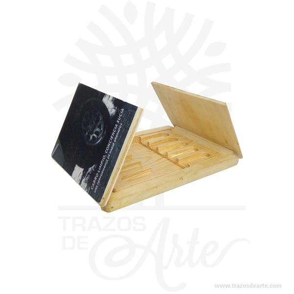 Caja estuche de madera para memorias USB personalizada – Precio COP 0