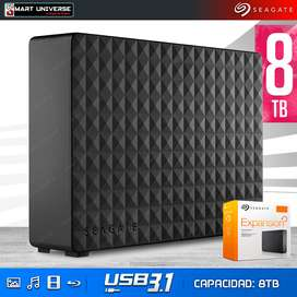 Disco Duro Portable Seagate 8TB USB 3.1 Externo 3,5'' OFERTA