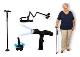 Baston Trusty Cane Plegable Con Luz Led