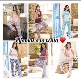 hermosas pijamas en satín y algodón