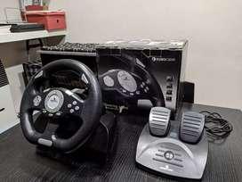 Volante y pedales eurocase para PC/PS2/PS3