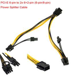 Cable PCIE PCI Express Power Splitter-PCI-E 6-pin to 2x 6+2-pin (6-pin/8-pin)