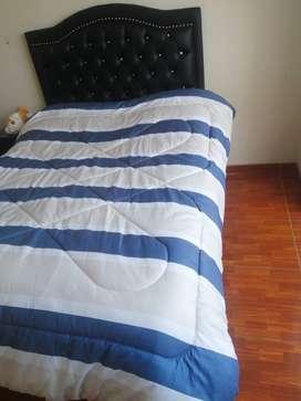 Remato cama queen + espaldar y colchón