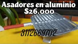 Asadores en aluminio fundido por $26.000