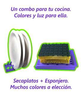 COMBO SECAPLATOS + ESPONJERO