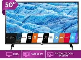 Vendo TV LG 50¨ SMAR TV CON BARRA DE SONIDO LSG SK1 Y CELULAR LG Q60 AZUL