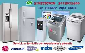Mantenimiento y Reparacion a domicilio en cucuta  en Lavadoras  , Neveras y Nevecones SMART TV
