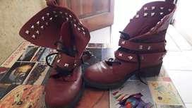 Bota y zapato y zapatillas muy poco uso