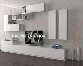 MODULAR PARA TV LCD LED CON VAJILLEROS INCLUIDOS