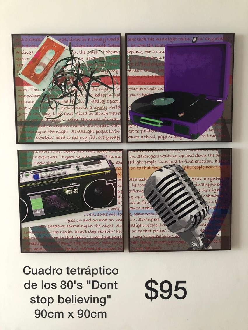 Cuadro decorativo con tema de los 80s 0