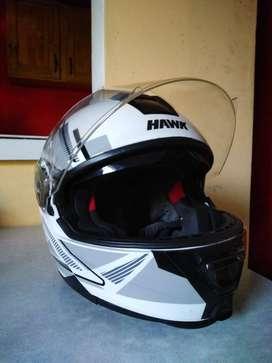 Casco Moto Hawk Rs1f Integral Blanco Mate
