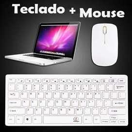 Mini Teclado Con Mouse Inalambricos [Nuevo]