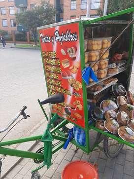 TRICICLO ADAPTADO PARA VENDER TORTAS