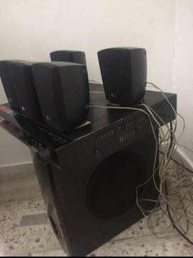 teatro en casa usb/karaoke/completo y funcional