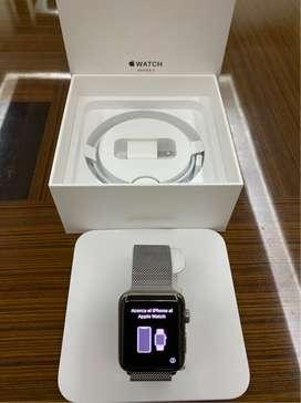 Apple Watch S3, 42mm, Stainless Steel/Acero Inoxidable, Milanese Loop