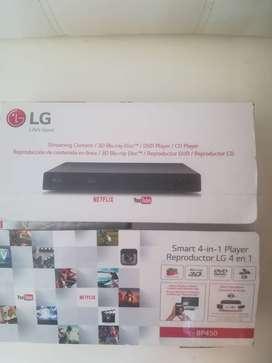 Blu Ray LG- 4 en 1- horas de uso