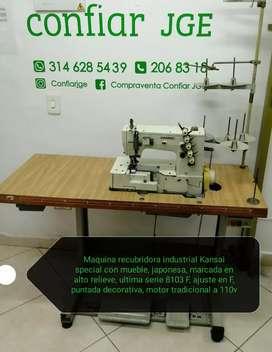 Maquina recubridora industrial Kansai special